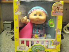Cabbage Patch Kids Naptime Babies Doll, Blonde Hair/Blue Eye Girl Baby Doll NEW