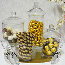 Christmas Candy Jars Lolly Jar Buffet 4 x JARS + 3 SCOOPS Apothecary Wedding