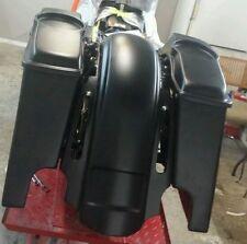"""Harley Davidson Stretched 6"""" Saddlebags Rear CVO style Fender 6.5 speaker lids"""