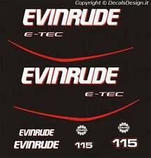 Adesivi motore marino fuoribordo Evinrude 115 cv E-TEC gommone barca