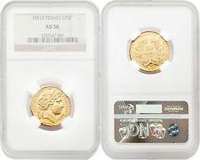 France 1851-A 20 Francs Gold NGC AU58 SKU#4160