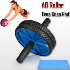 AB Abdominal Waist Workout Exercise Home Gym Fitness Wheel Roller Wheels KneePad