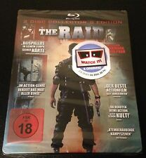 THE RAID Collectors Edition Blu-Ray SteelBook 2-Disc Set Germany Region B. Rare!