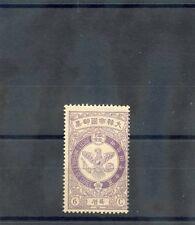 KOREA Sc 45(MI 38)*F-VF LH 1903 6ch LILAC, FALCON, $170