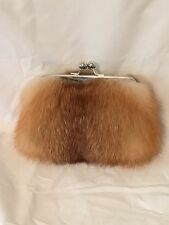 Genuine Red Fox Fur Clutch Purse