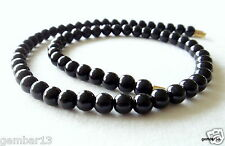 "Genuine Natural 6mm Black Onyx necklace Round Beads 16"" 6 mm Black Onyx Beads"