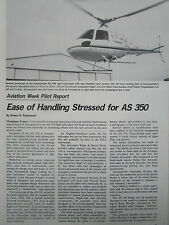 1/1977 ARTICLE 7 PAGES AEROSPATIALE HELICOPTERE AS 350 ECUREUIL STARFLEX ROTOR