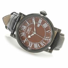 Invicta 15433 Specialty   Stainless Steel Leather Strap Watch w/ Travel Box