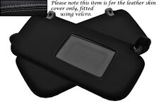 GREY STITCH FITS HYUNDAI GETZ 02-08 2X SUN VISORS LEATHER COVERS ONLY