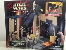 STAR WARS EPISODE I -motorised- Theed Hangar Playset MIB (w/ exclusive figures)