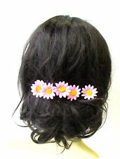 5x Light Pink Daisy Flower Hair Pins Chrysanthemum Floral Bridesmaid Set 1760