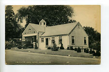 South Natick MA Mass Fire Station, fire truck, person, 1950's?