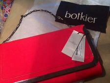 SALE! Botiker Clutch Bag Misha New Brilliant Hot Red Cowhide Factory Packaging