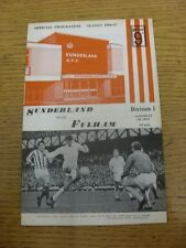 06/05/1967 Sunderland v Fulham  . Item appears to be in good condition unless pr
