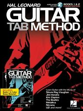 Hal Leonard Guitar Tab Method Books 1 & 2 Combo Edition with Audio NEW 000696633