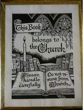 ANTIOCH BOOKPLATE COMPANY This Book Belongs to the Church - Ex Libris - 3 Boxes
