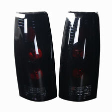 Tail Light For 88-98 GMC C/K Black / Smoke Lens PAIR