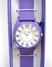 NEW ADRENALLINE BY FREESTYLE PURPLE SILICON BAND+WHITE DIAL WOMEN WATCH-AD1026