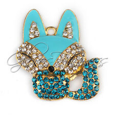 1PC 40x44mm Fox Charm Pendant for Bubblegum Chunky Bead Necklace