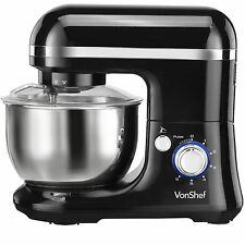 VonShef Stand Mixer 650W Pro Electric Food Mixer Machine Splash Guard Black