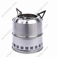 Light Weight Wood Gas Backpacking Emergency Survival Burning Camping Stove