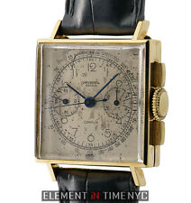 Universal Geneve Uni-Compax Compur Vintage Chrono 18k Yellow Gold 12105 1940's