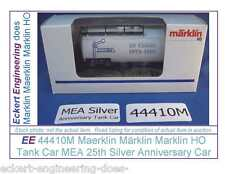 EE 44410M New Märklin Marklin HO Tank Car MEA 25th Silver Anniversary Car