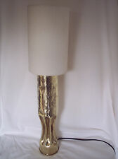 WW1 Trench Art French shell lamp decorated & dated 1916.