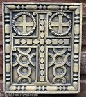 Gothic Cross wall plaque panel frost proof stone garden plaque copy of original