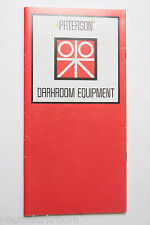 Paterson Darkroom Equipment Sales Ad Brochure Pamphlet 1982 - USED B63