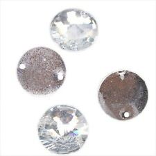 75 Clear Sew-on Resin Flatback Beads 16mm 24037 FREE P
