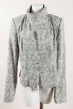 Vivienne Westwood Anglomania White Gray Silk Patterned Knit Jacket SZ 48
