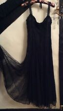RALPH LAUREN RRL WOMENS LACE SILK LONG BLACK DRESS.  SIZE: UK 6-8. RRP:£850