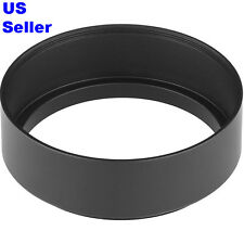 NEW Quality 62mm Standard Metal Screw-in Lens Hood for Canon Nikon Sony Pentax