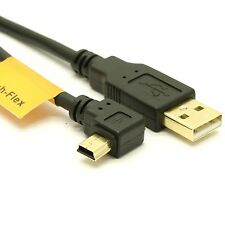 USB 2.0 A to Left Angle Mini-B Cable - High-Flex