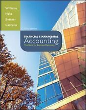 Financial and Managerial Accounting 17th Edition ISBN: 978-0-07-802577-8