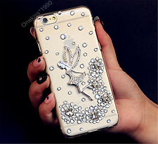 Bling Angel Crystal Dragonfly Case Cover For Samsung Galaxy S6 XPU16