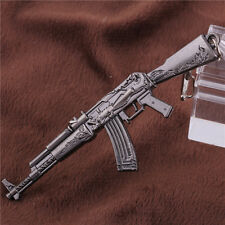 Vintage Metal Cross Fire Assault Mini Rifle AK47 Key Chain Ring Pendant 12CM Hot