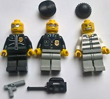 Lego - Minifigures - 3x Policeman - (REF 2) - Used Con - Free Post!