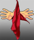 "FLOATING DANCING SILK Magic Trick Red 9"" Inch Scarf Hanky Beginner Jumping Funny"