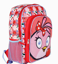 "16"" Backpack Kids Angry Birds Stella Pink Girls School Large Book Bag NEW"