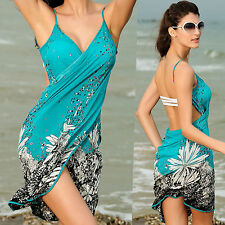 Sexy Ladies Summer Swimwear Bikini Cover Up Beach Sarong Wrap Dress Womens New