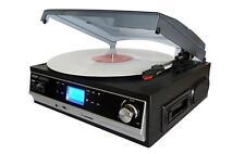 Boytone Record Player Turntable w/ Built-In Speakers Cassette SD USB -BT-16DJB-C