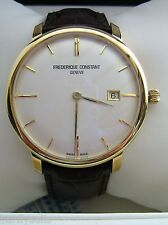 FREDERIQUE CONSTANT WATCH MENS SLIMLINE AUTOMATIC FC-306V4S5 GOLD PLATED GENUINE