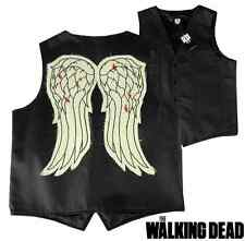 The Walking Dead Officially Licensed Daryl Dixon Biker Angel Wing Vest - Small