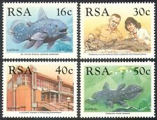 Rsa 1989 coelacanthe/poisson/marine/nature/préhistorique/faune 4v set (n26864)
