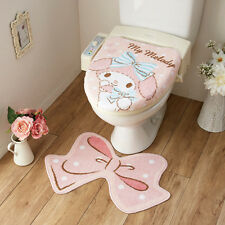 NEW! Sanrio My Melody toilet lid cover mat set from JAPAN