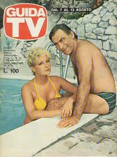 rivista  GUIDA TV ANNO 1977 NUMERO 32 ALBERTO LUPO E LYLA ROCCO