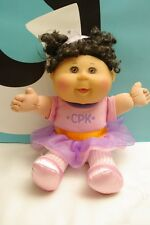 Cabbage Patch Kids Doll Dark Curly Hair Toddler Sitting Pretty