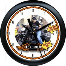 Personalized Your Custom Photograph Harley Wall Clock Gift